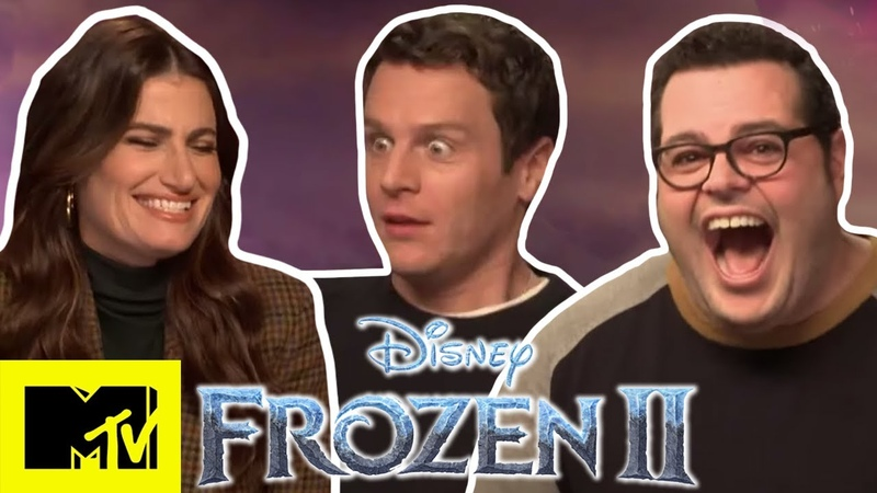 Idina Menzel Frozen 2 Cast Talk Into The Unknown Play Disney Pictionary | MTV Movies