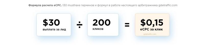 10 формул расчета бюджета на компании в арбитраже трафика, изображение №6