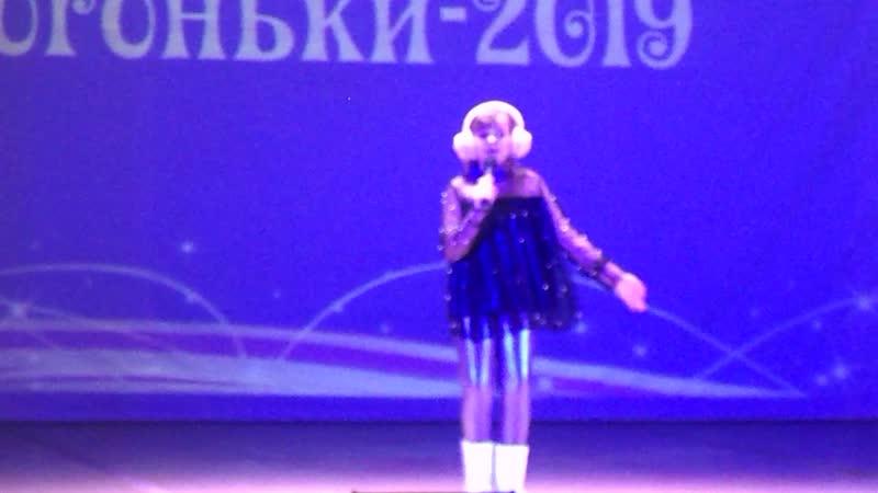Виктория на конкурсе Рождественские огоньки проходившем в Вязниках