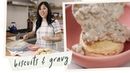 Making Biscuits and Gravy from scratch Holiday Brunch