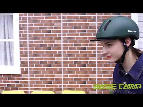BASE CAMP Adult Bike Helmet with Removable Visor for Urban Commuter Adjustable M Size