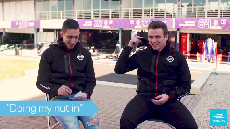 Doing My Nut In English Slang Challenge With Sebastien Buemi And Oliver Rowland