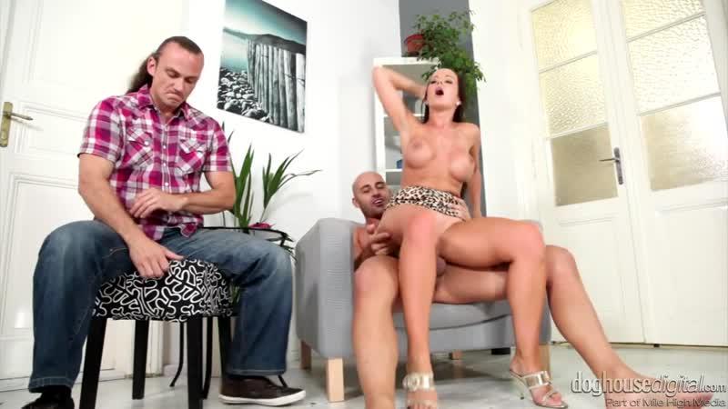 Slutwife Cindy Dollar revenge fuck in front of husband [Brunette, Big Tits, High Heels, Cheating, Cuckold, Hardcore, HD Porn]