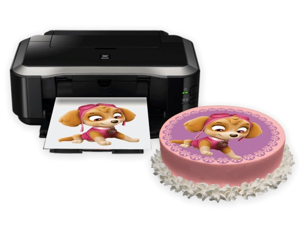 сахарная картинка на торте в холодильнике если