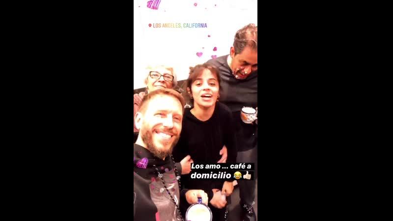 Camila at Noel Schajris' Instagram Story