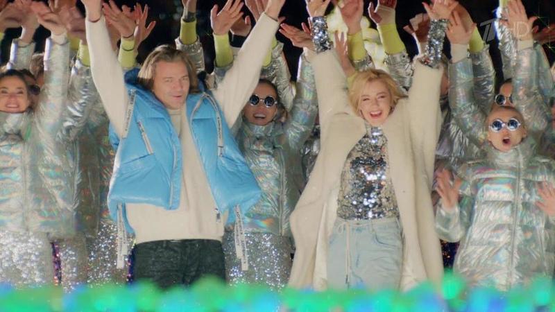 Юлианна Караулова иДмитрий Маликов Синяя песня Новогодняя ночь наПервом Фрагмент выпуска от01 01 2020