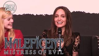 Maleficent 2 Press Conference - Angelina Jolie, Elle Fanning, Sam Riley