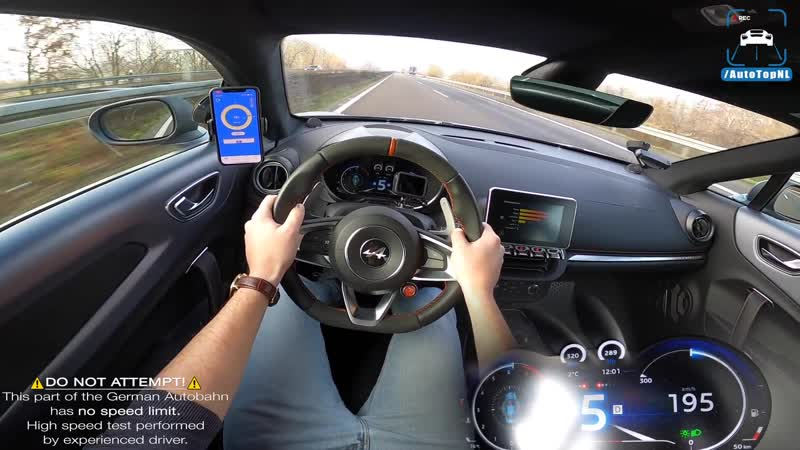 ALPINE A110S TOP SPEED on AUTOBAHN NO SPEED LIMIT by AutoTopNL