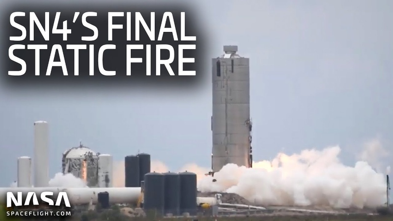 SpaceX Boca Chica - Final Starship SN4 Static Fire