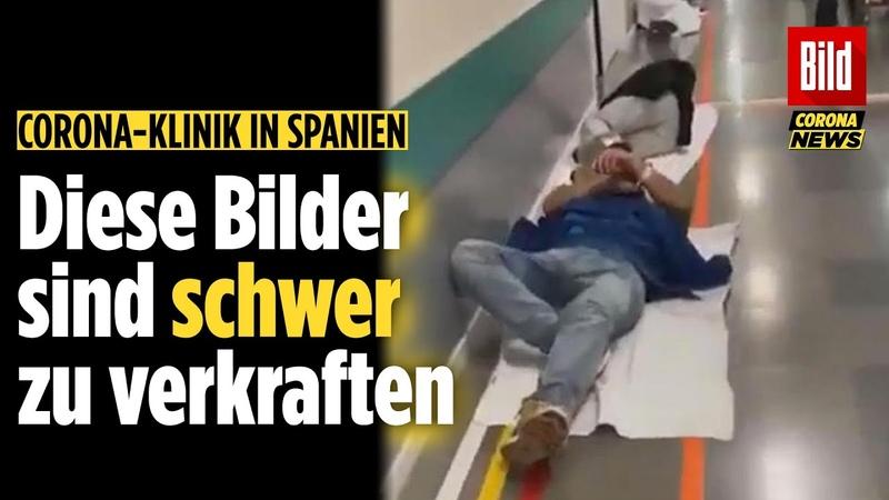 Corona Patienten müssen auf dem Boden liegen Schlimme Bilder aus einem Krankenhaus in Madrid