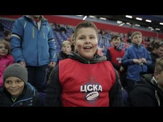 Воспитанники детской секции РК ЦСКА на матче ПФК ЦСКА