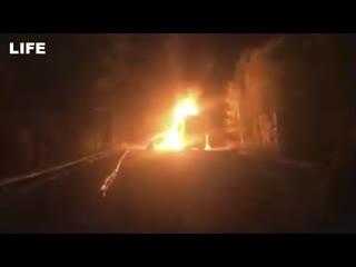 Фура с пиротехникой загорелась на трассе под Комсомольском-на-Амуре