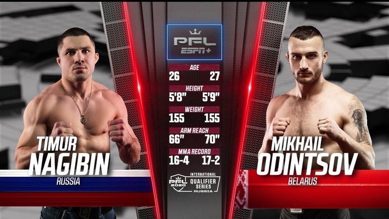 Timur Nagibin vs Mikhail Odintsov Full Fight 2020 PFL International Qualifier Series Russia Final