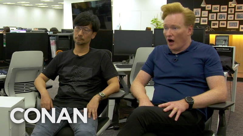 Conan Visits The Offices Of Death Stranding Creator Hideo Kojima - CONAN on TBS