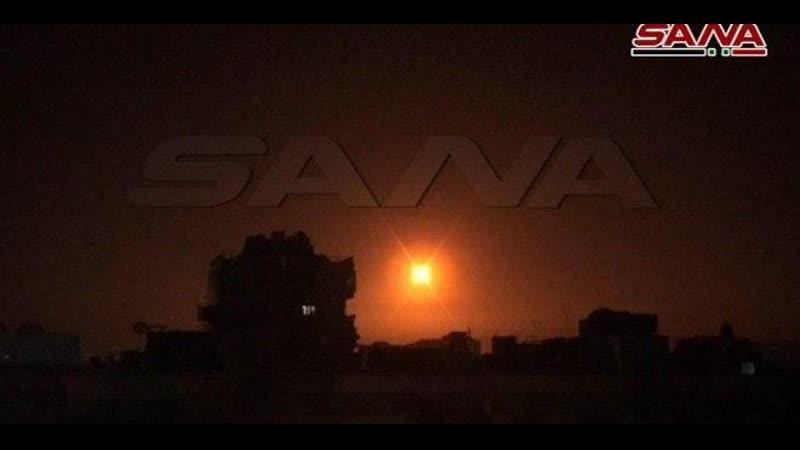 14 02 2020 Сирийские средства ПВО отреагировали на ракетный удар с оккупированных сирийских Голан