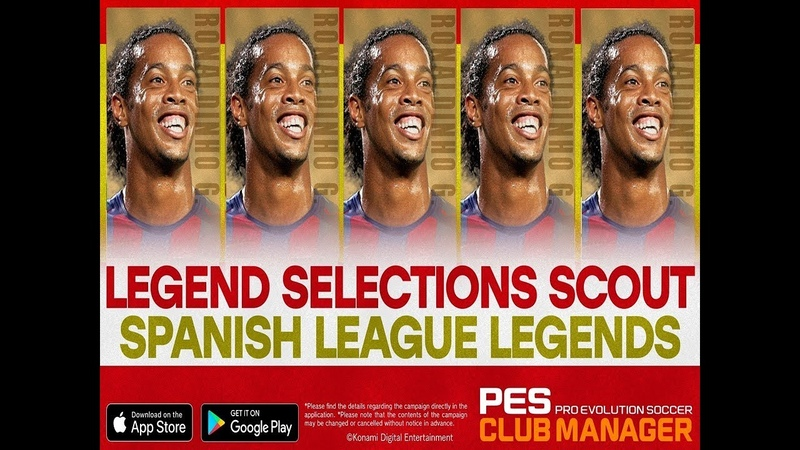 RONALDINHO ON FIRE | LEGEND SELECTIONS SCOUT | PES CLUB MANAGER 2020 | PART 30