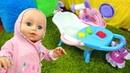 Игры для девочек с Беби Бон Новая ванна для куклы Анабель Видео с куклами