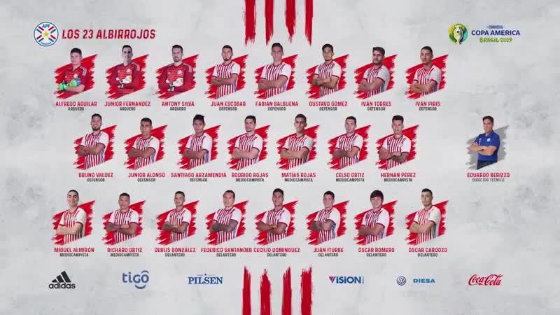 Convocados-Paraguay