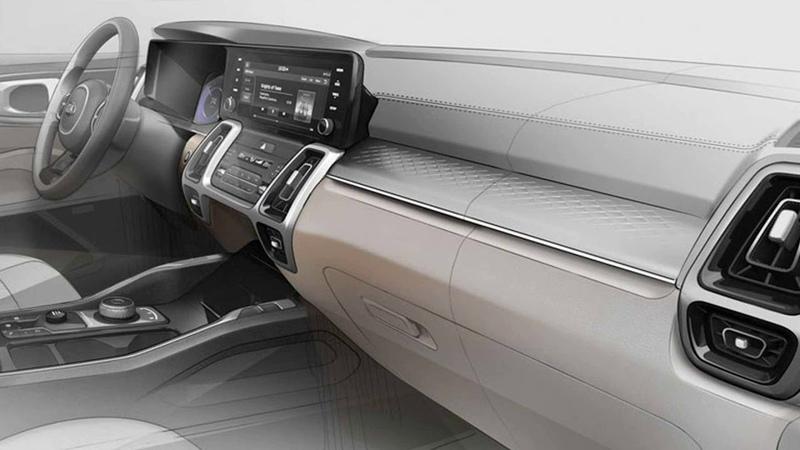 KIA показала интерьера новой Sorento а детали моторной линейки утекли в Сеть