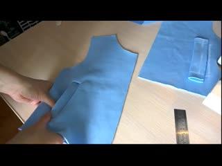 Мастер-класс.  Обработка прорезного кармана с листочкои в трикотаже.