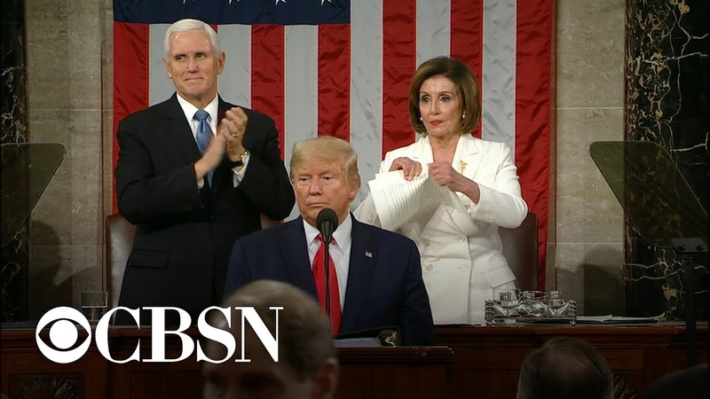 Pelosi rips apart copy of Trump's State of the Union address