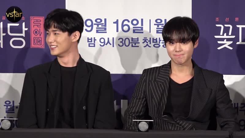 괘...괜찮습니다 질문 기다렸던(?) 박지훈(Park Jihoon)의 '귀염터지는' 순간 ('조선혼담공작소 꽃파당' 제작발표회)