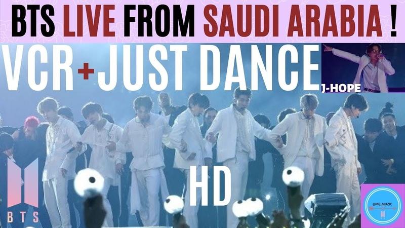BTS 방탄소년단 VCR JUST DANCE by JHOPE LIVE From RIYADH SAUDI ARABIA in HD 10 11 19