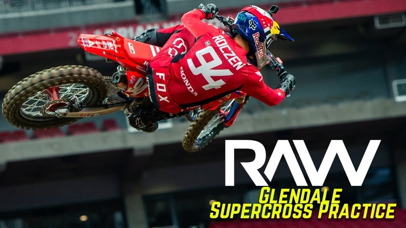 Glendale Supercross Practice RAW Motocross Action Magazine