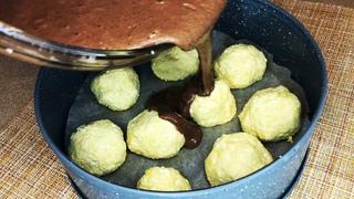 Шоколадный Пирог с Творожными Шариками. Выпечка к чаю. Подробный рецепт.