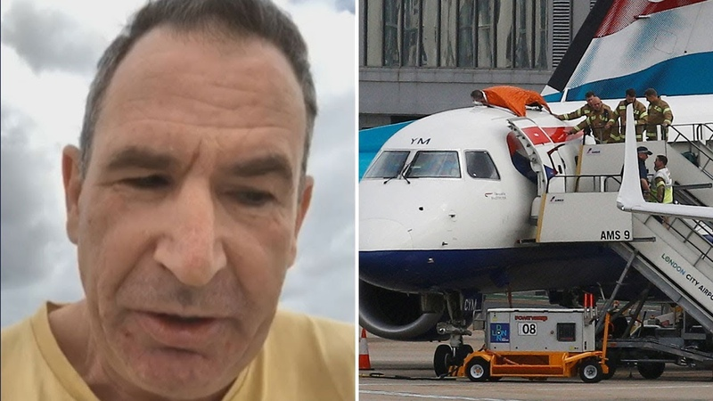 Blind Paralympian climbs onto plane in Extinction Rebellion protests at London City Airport