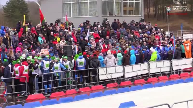 В Городке 23 февраля прошёл республиканский кубок по биатлону среди юниоров