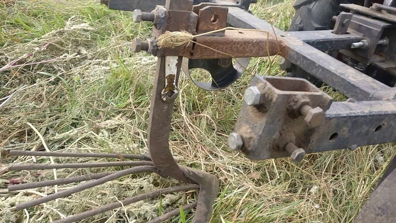 Копание картошки мототрактором 2018