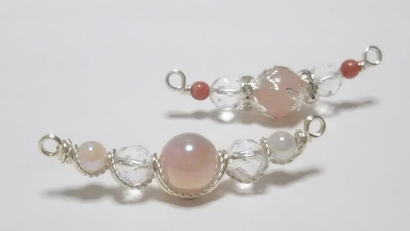 #66ワイヤーアクセサリー・ネックレスパーツ・クォーツ・wire jewelry