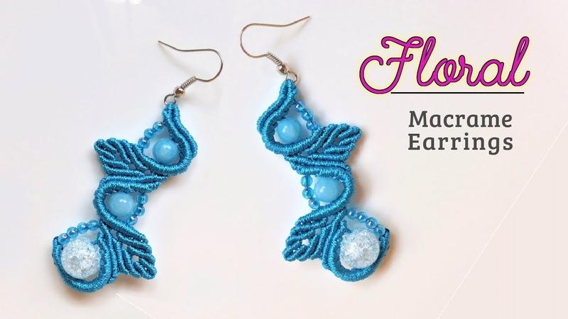 Macrame jewelry tutorial The Floral earrings Elegant macrame pattern