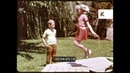1960s, 1970s USA, Brother and Sister Playing with Skipping Rope, 16mm