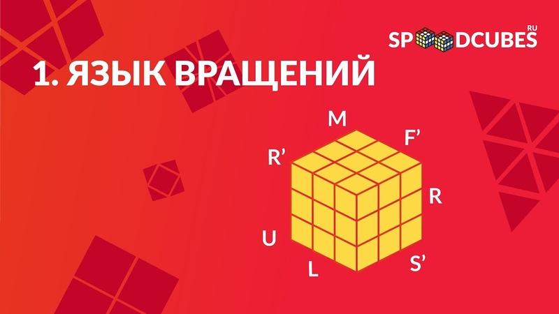 Обучалка. Как собрать кубик Рубика 3х3х3. Язык вращений