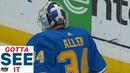 GOTTA SEE IT Canadiens Score Fluke Goal After Jake Allen Deflects Puck Into Own Net