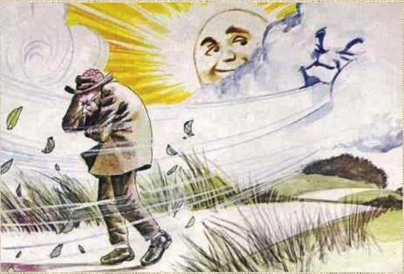 позволило картинки к рассказу ветер и солнце самом