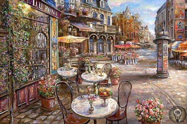 ХУДОЖНИК ВАДИМ СУЛЯКОВ.ШЁЛКОВОЕ . УТРО НА МОНМАРТРЕ...Шёлковое утро на Монмартре, Стук изящных тонких каблучков, Ветерок бодряще - ароматный И кофейный. Да,Париж таков! Сладкий дух поджаренных