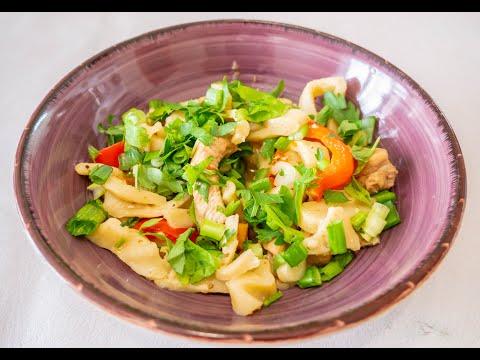 ЦУЙВАН - монгольская домашняя лапша с мясом и овощами. Простой рецепт, очень вкусного блюда.