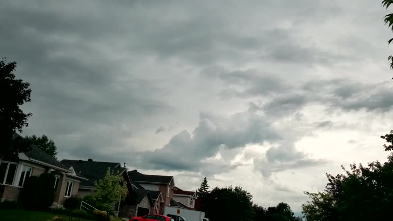 2019 DEMO Micro Timelapse Artificial Convection Cloud Generator of Clouds 29 June 17H00 Ca Qc Mtl