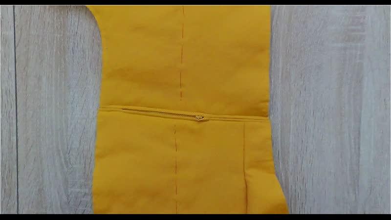 Комбинезон для маленькой Евы Часть 3 Обработка кармана в шве на застёжке молнии