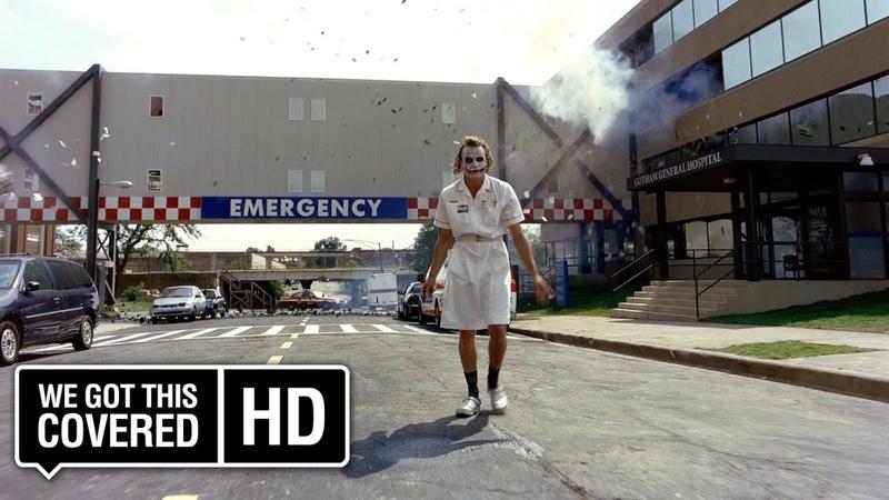 The Dark Knight The Joker And Harvey Dent Hospital Scene [HD] Christian Bale, Heath Ledger