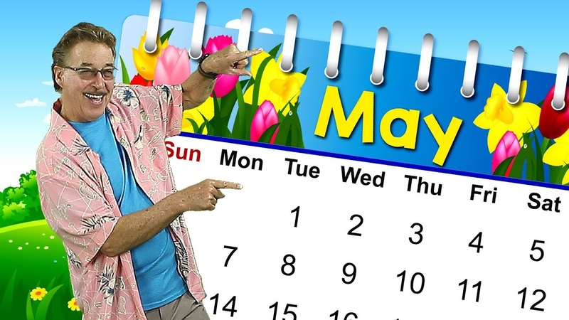 It's the Month of May Calendar Song for Kids Jack Hartmann