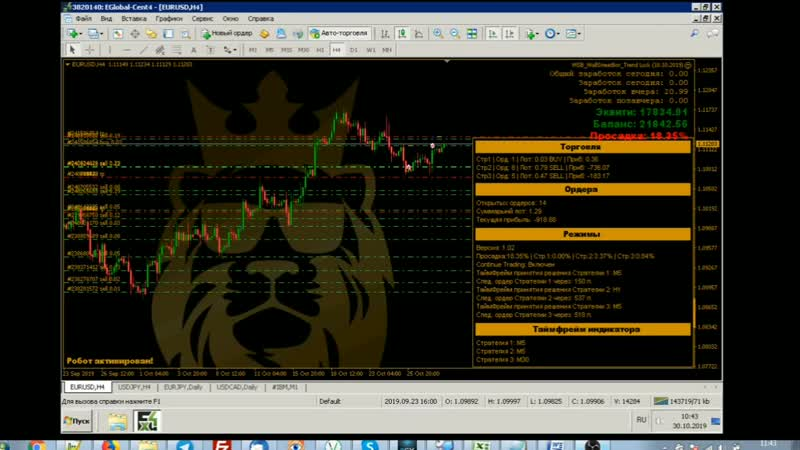 Обзор функции Лок. Wall Street Bot Lock