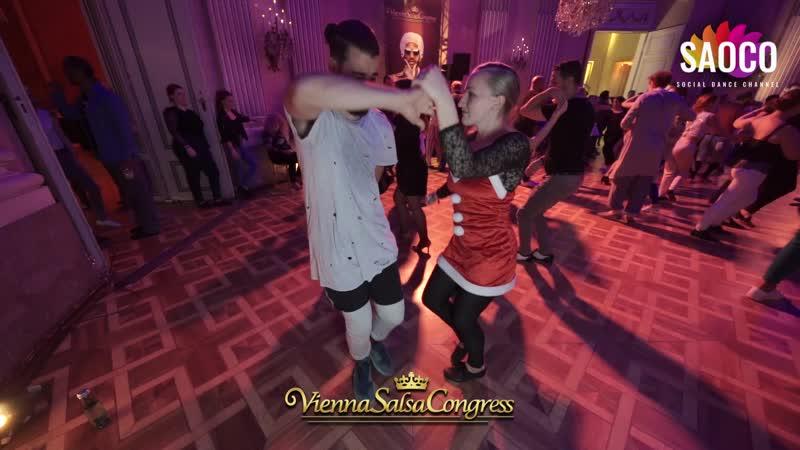 Soufiane Ottmani and Di Ax Salsa Dancing at Vienna Salsa Congress 2019 Sunday 08 12 2019