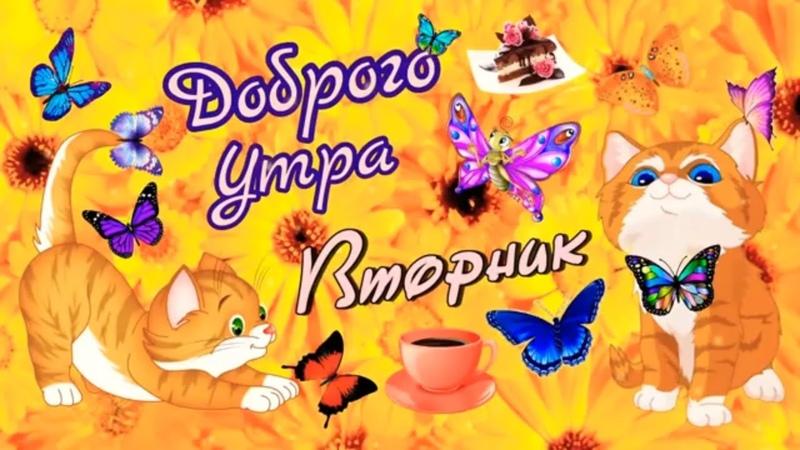 С Добрым Утром Доброго Утра Вторника Удачного Вторника Красивое пожелание доброго утра Открытка
