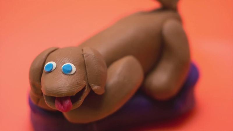 Веселый пластилин. Щенок. / Cheerful Plasticine. Puppy.