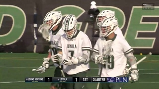 #10 Johns Hopkins vs #16 Loyola Maryland Feb 15 | Men Lacrosse 2020