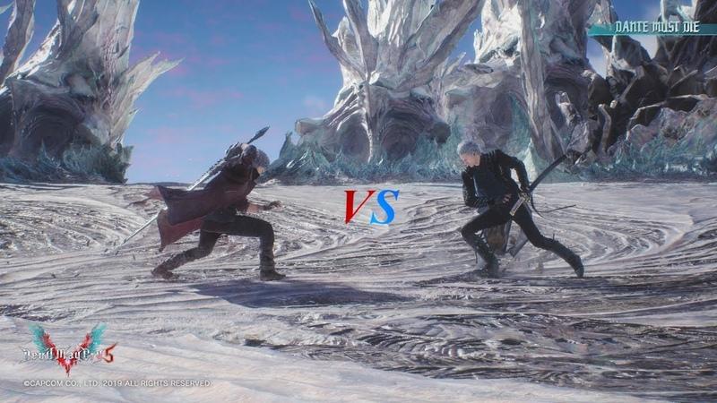 DMC5-Dante vs Vergil-ダンテとバージルの決闘